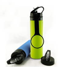 New Arrival Portable Gym Sports Foldable Bottle Silicone Collapsible Water Bottle