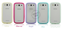 for samsung galaxy s3 i9300 palin color rubber mobile phone case