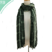 SC-129651 Women summer plaid shawl polyester sequins solid color long scarf