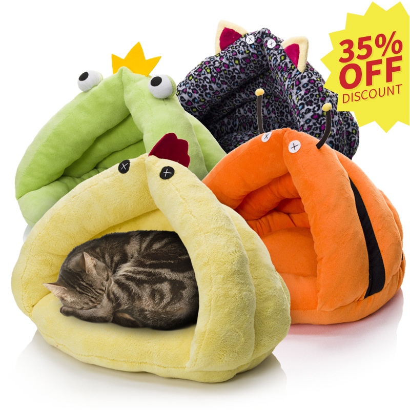 rosey form pet beds animal shape design round shape discount cat cave bed