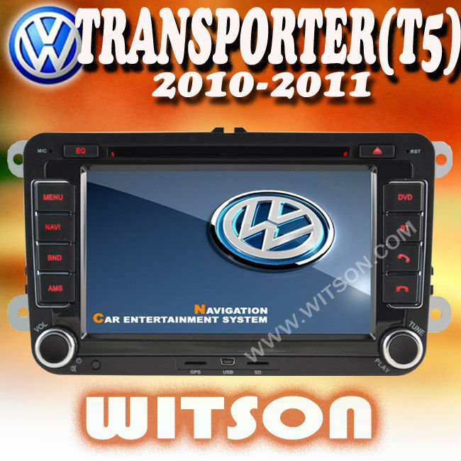 WITSON vw transporter touch screen car stereo with USB port and iPod ready