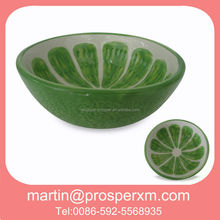 Custom printed ceramic bowl fruits shape