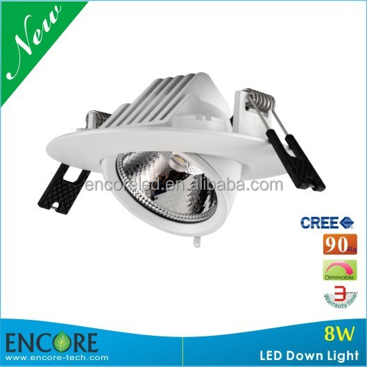 Up to 620lm MINI Gimbal Adjustable 8W Housing Dimmable COB LED Downlight