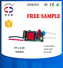 High PF 4-7w LED driver 270mA 265v Isolated power supply