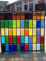 colored pattern stained glass for window