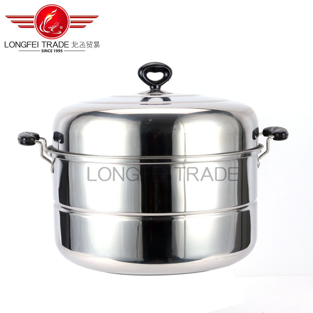 Free Sample Factory Price Large Capacity Stainless Steel Steamer Pan&Pot