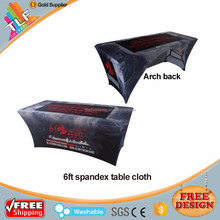 XYM furniture professional design customize spandex table cover with logo