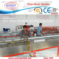 turn key project production line for manufacturing upvc door window profiles