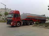 Best FOTON Large capacity semi oil tank truck