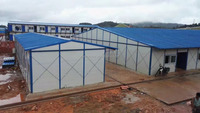 china low price light steel frame system prefab house/ warehouse