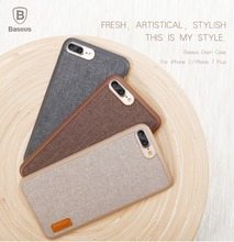 Baseus Grain Modern Canvas cover mobile Phone Case For iPhone 7/7plus