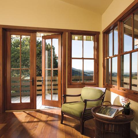 Venta al por mayor ventanas de aluminio acabado madera - Puertas de aluminio color madera ...