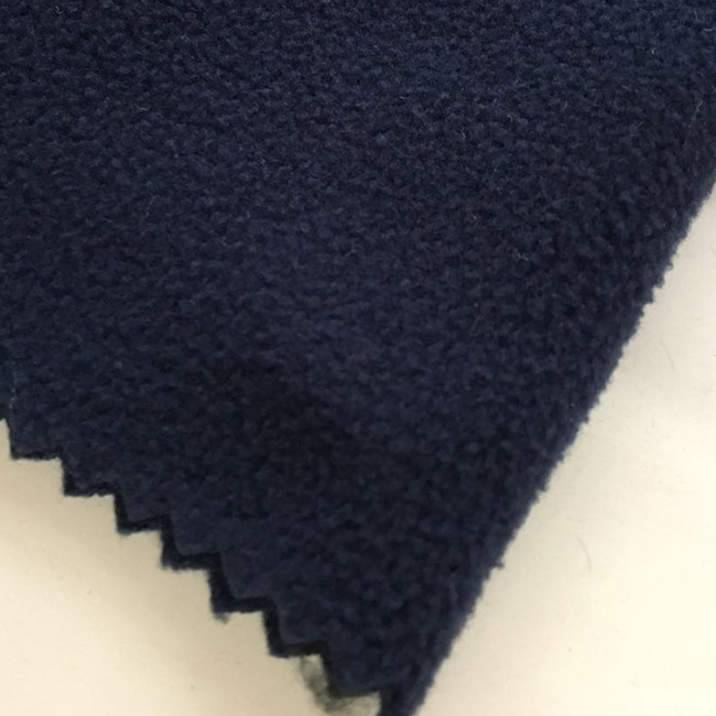 knitting 100%polyester plain dyed polar fleece fabric for garment