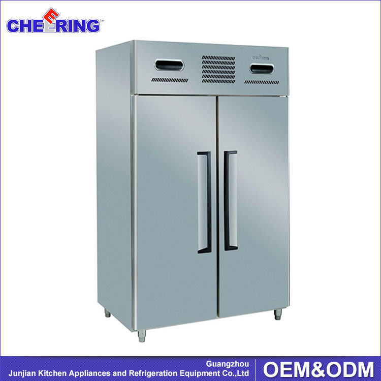 2 Doors Double Temperature Refrigerator And Freezer / Commercial Gas Refrigerators/Twin Refrigerator And Freezer