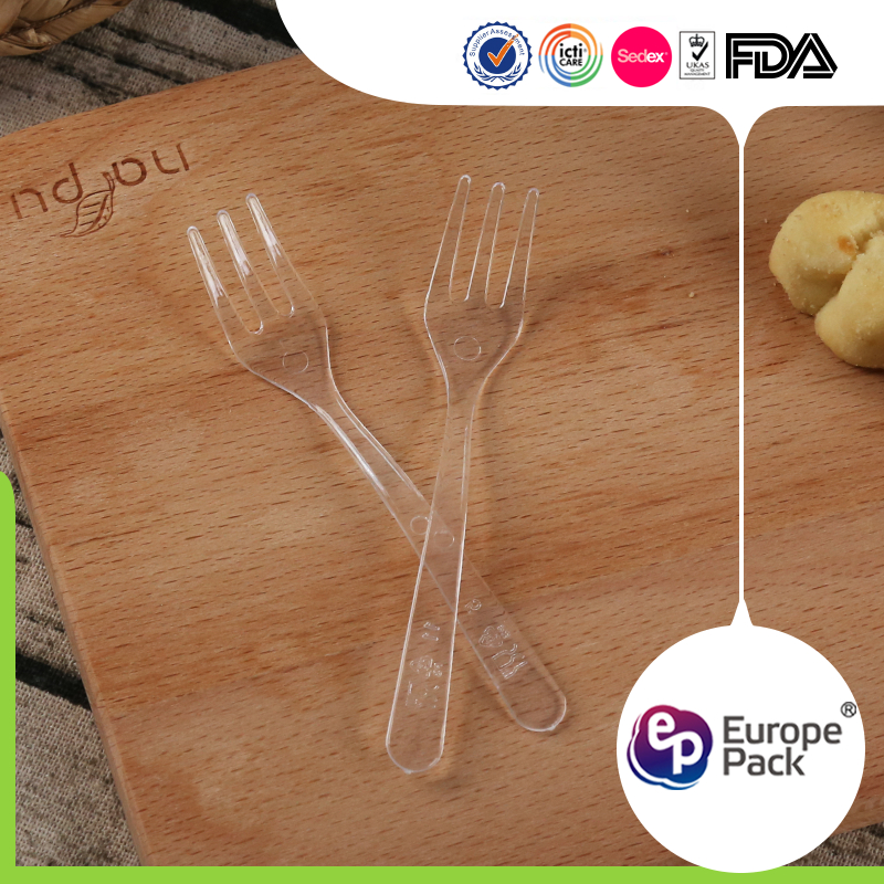 Safety material disposable plastic reusable fork with LFGB FDA certificate