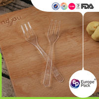 Safety material mini disposable plastic spoon & fork with LFGB FDA certificate