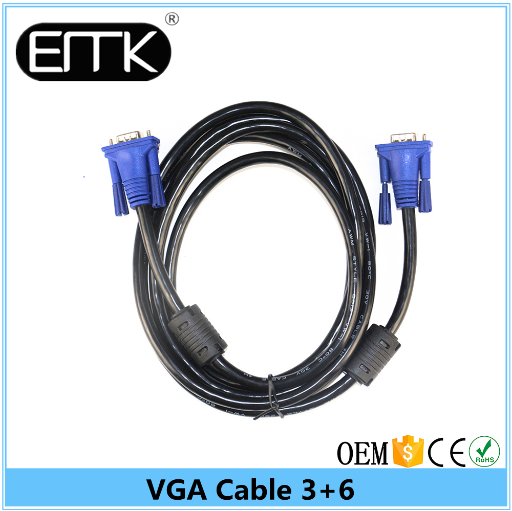 15M Wholesale Nickel Plated 15pin VGA Cable(45 Feets)