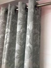 Grommet Panel Factory On Sale Ready-Made Jacquard Curtain In Stock