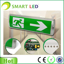 wall mounted LED bulkhead light exit sign stick different directions emergency exit or WC