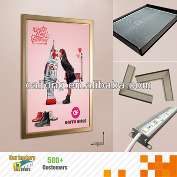 A0,A1,A2,A3 size Aluminium LED snap frame light boxes