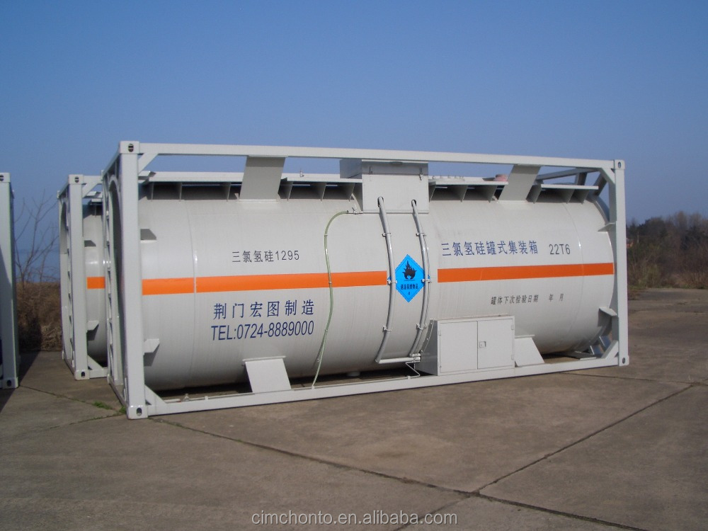 Widely used 20ft 40ft fuel lng lpg iso tank container with low price
