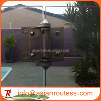 stainless steel pool fencing glass to glass hinge