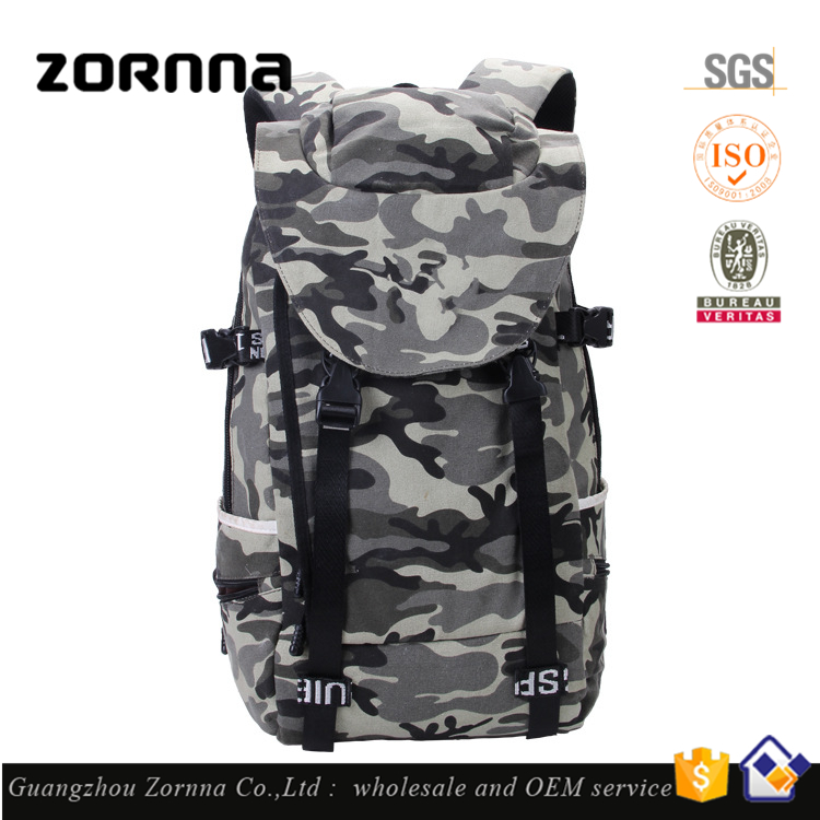 Practical Big Size Old Fashion Large Fire Proof Military Camo Backpack