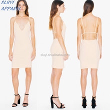 Latest Arrival Real Women Without Dress For Sexy Pictures U-neck Designer One Piece Dress pure color without dress