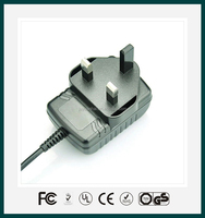 5W 5V1A AC DC wall type switching power adapter/adaptor for LED lighting, moving sign applications,home appliance