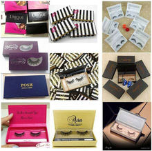 Private Label Custom Eyelash Packaging 3D Faux Mink Lashes