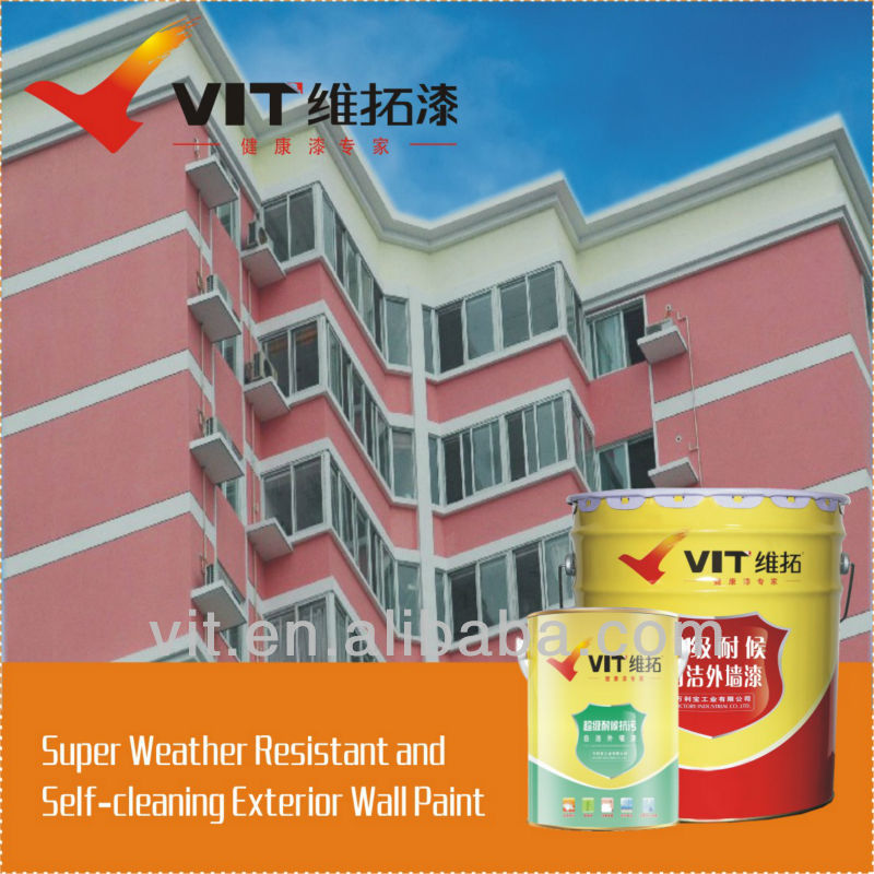 VIT weather resistant and self-cleaning exterior wall paint/coating SWA-2331