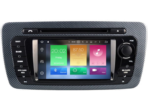 Octa Core 2gb RAM 32gb ROM Android 6.0 car dvd player fit for Seat Ibiza 2009-2013 stereo audio headunit radio headunit GPS navi