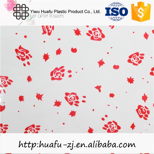 High quality small flower design beautiful holiday cellophane wrap