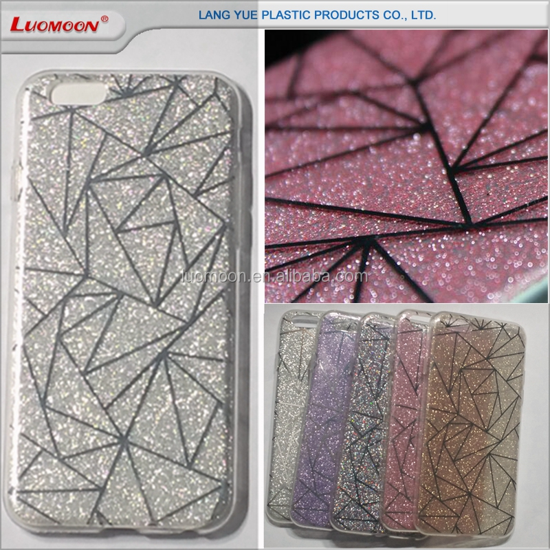 popular double IMD printing tpu back cover glitter phone case for samsung galaxy j2 note2 n7100 note3 n900 n7108 n7102 n719