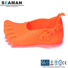 100% silicone junior colorful five fingers anti-skidding beach shoes footwear