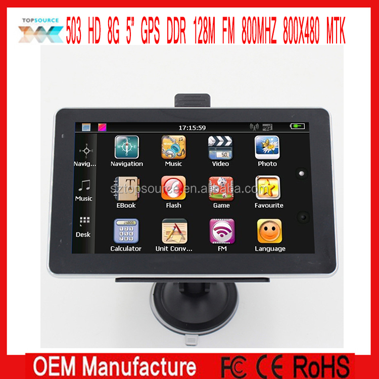 "China best 5"" Car Mediatek Navigation GPS SAT NAV With 4GB memory"