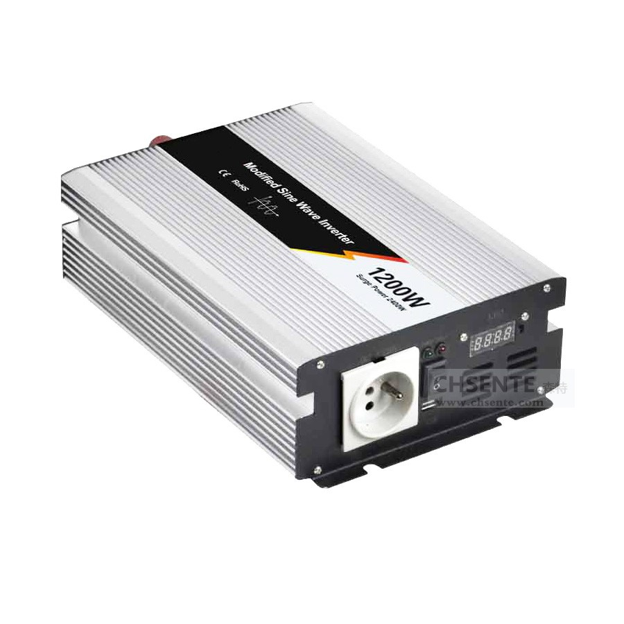 Dc to ac 12v 220v 1200w solar power ups economical modified sine wave inverter for home use