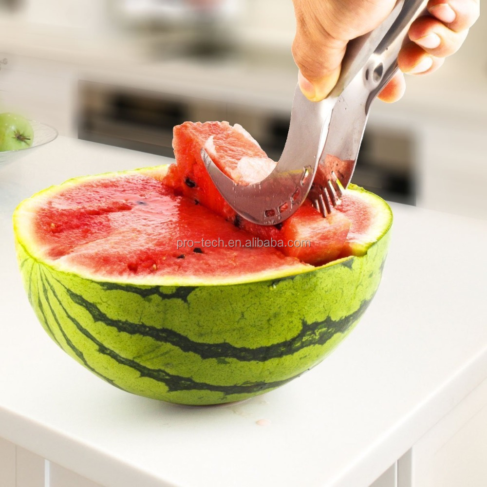 Stainless Steel Watermelon Slicer & Corer / Melon Cantaloupe Fruit Peeler