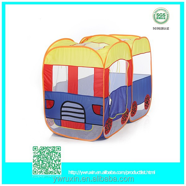 Eco friendly wood kids set camping tent toy