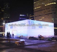 Large cube air roof marquee wedding party inflatable castle tent