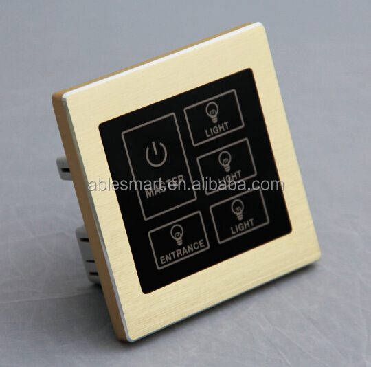 2016 newest style metal frame smart home automation electric touch sensor light <strong>switch</strong>