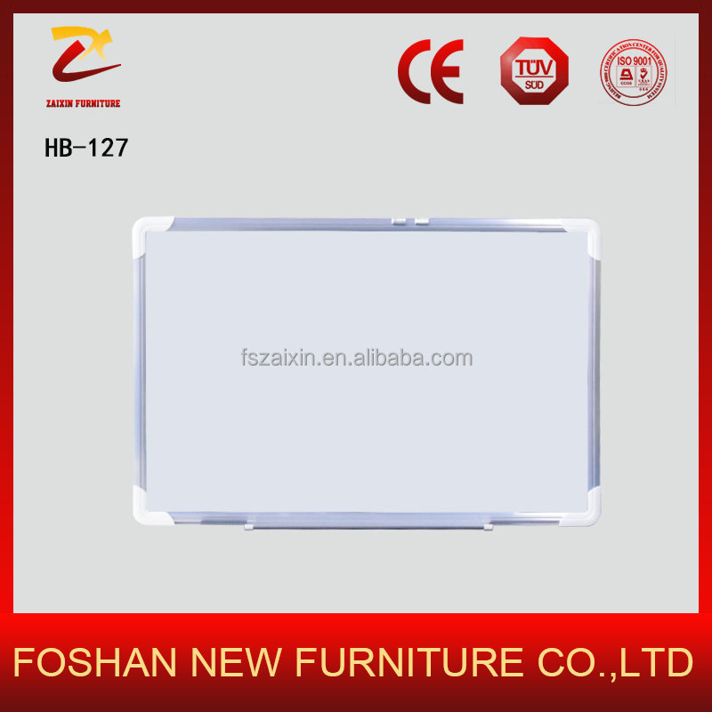 Various Sizes Available Silver Aluminum Frame With Abs Corners Office Writing Magnetic White Board
