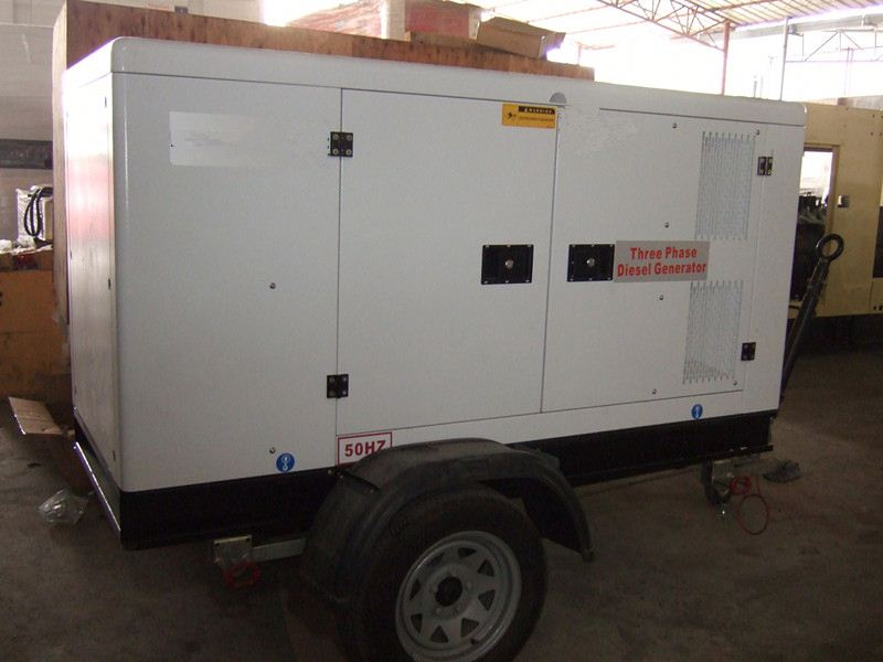 Global Service 150KVA Engine open type low bed trailer dimensions