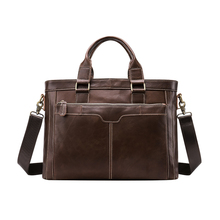Factory Wholesale Customized Leather Office Messenger Handbag Briefcase Notebook Computer Bags For Men 8525