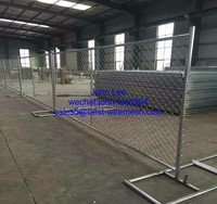 Hot Dipped Galvanized 6'x12' guage 11.5 chain link temporary fence portable fence mobile fence used for American market