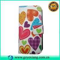 Cute cartoon design flip leather cover case for iphone 5c