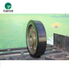 Iron industry wagon wheels and axle for transfer rail vehicle