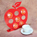 Elegant Red Coffee capsule Storage rack coffee pod display rack K-Cup keeper rack Hold 8 capsule- F0129