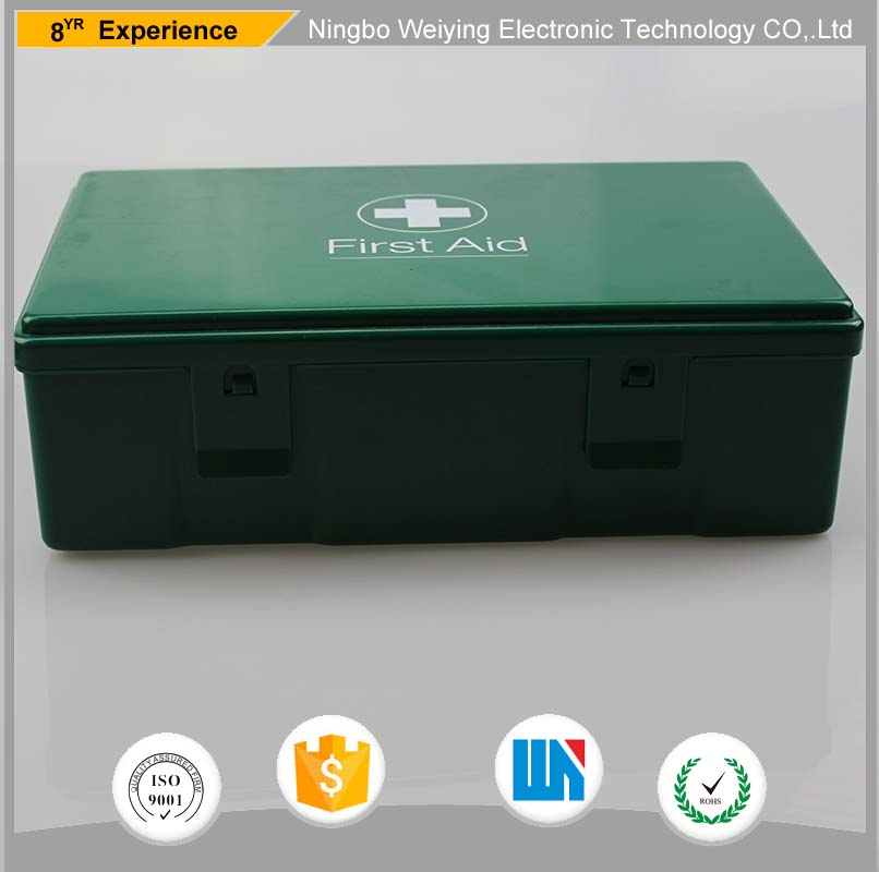 High Quality Wholesale Green medical storage kit Plastic first aid box for Family use