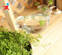 Garden auto watering bird glass container